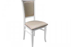 Стул Бонита белый/патина, жаккард Ромб корица - Мебельная фабрика «Мебелик»