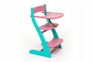 Стул детский растущий Усура мятный-лаванда - Мебельная фабрика «Бельмарко»