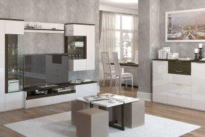 Гостиная Тоскано ясень темный/белый - Мебельная фабрика «ИнтерДизайн»