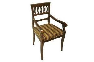 Стул из массива с подлокотниками - Мебельная фабрика «Мебелла»