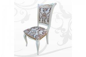 Стул Оскар белый с золотом - Мебельная фабрика «Сильвия Мебель»