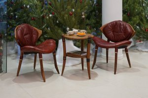 Стул-полукресло Zulu  с коже Kodiak Red  - Импортёр мебели «Arredo Carisma (Австралия)»