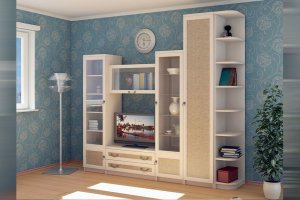 Светлая гостиная 1 - Мебельная фабрика «Профит»