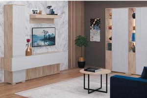 Светлая гостиная Лайн 1 - Мебельная фабрика «МСТ. Мебель»
