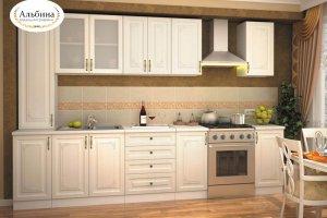 Светлая кухня Мелодия - Мебельная фабрика «Альбина»
