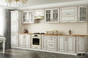 Светлая кухня в классическом стиле Ампир - Мебельная фабрика «КомфортОН», г. Москва