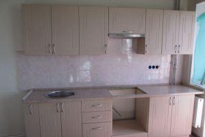 светлая прямая кухня - Мебельная фабрика «Агата»