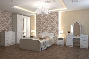 Светлая спальная мебель Ольга - Мебельная фабрика «НАРУС»
