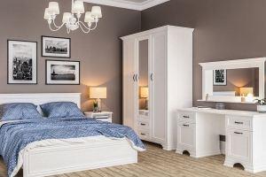 Светлая спальная мебель Юнона - Мебельная фабрика «Мебель-Неман»