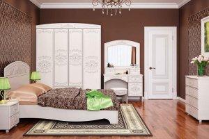 Светлая спальня Каролина 1 - Мебельная фабрика «Олмеко»