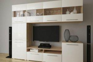 Светлая стенка в гостиную - Мебельная фабрика «МЕБЕЛов»