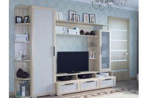 Светлая Стенка в гостиную Нота 20 - Мебельная фабрика «Новосибирская Мебель»
