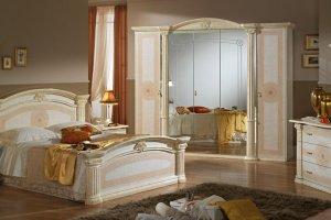Светлый спальный гарнитур Евгения - Мебельная фабрика «Диа мебель»