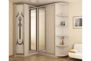 Светлый угловой шкаф в гостиную - Мебельная фабрика «Роникон»