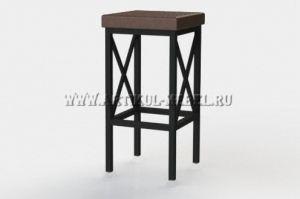 Табурет барный Куб со вставками - Мебельная фабрика «Артикул-Мебель»