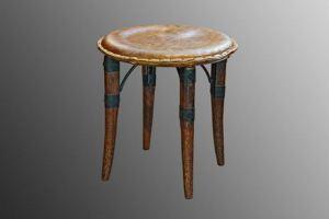 Табурет Mauritius  в коже Aged Bark - Импортёр мебели «Arredo Carisma (Австралия)»