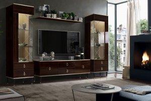 Темная гостиная стенка - Мебельная фабрика «Ярцево»