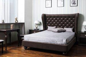 Темная кровать Сицилия 4 - Мебельная фабрика «Новая мебель»