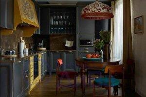 Темная Кухня Фьюжн - Мебельная фабрика «ДиВа мебель»