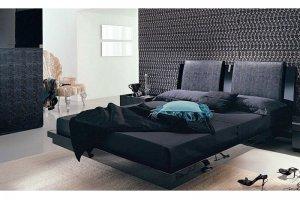 Темная современная спальня 1 - Мебельная фабрика «Вся Мебель»