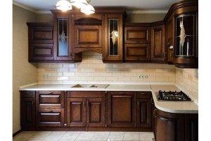 Темный кухонный гарнитур - Мебельная фабрика «Массив»