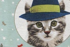 Ткань жаккард печатный  Маленький котенок 3 цвет 1 - Оптовый поставщик комплектующих «Декостеп»