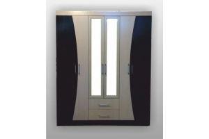 Трехсекционный шкаф с зеркальными вставками СП-42 - Мебельная фабрика «SPSМебель»