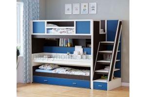 Трехъярусная кровать HAPPY KIDS SMART 1 - Мебельная фабрика «Happy home»