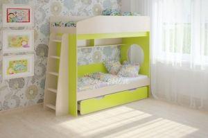 Трехъярусная кровать Легенда 10.4 - Мебельная фабрика «Легенда»