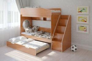 Трехъярусная кровать Легенда 10.5 - Мебельная фабрика «Легенда»