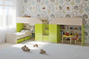 Трехъярусная кровать Легенда 11.13 - Мебельная фабрика «Легенда»