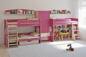 Трехъярусная кровать Легенда 25.4 - Мебельная фабрика «Легенда»