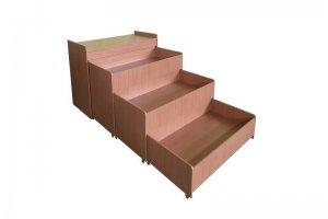 Трехъярусная выкатная кровать с тумбой - Мебельная фабрика «Профмебель»
