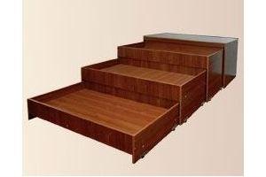 Тумба-кровать трехъярусная детская - Мебельная фабрика «Мартис Ком»