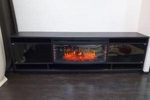 Тумба под ТВ с электрокамином - Мебельная фабрика «Красивый Дом»