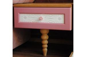 Тумба розовая на одной ножке - Мебельная фабрика «BLISS-HOME»