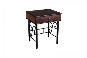 Тумба Сартон 11 черный/средне-коричневый - Мебельная фабрика «Мебелик»