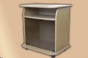 Тумба ТВ со стеклянными дверцами - Мебельная фабрика «На Трёхгорной»