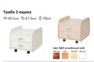 Тумба в детскую 2 и 3 ящика - Импортёр мебели «Полезные технологии (Тайвань)»