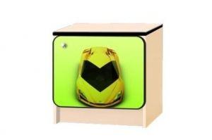 Тумбочка детская Ламбо капот зелёный - Мебельная фабрика «КАРоБАС»