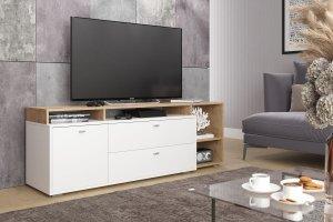 ТВ-тумба белая Ланс К202 - Мебельная фабрика «ДСВ-Мебель»