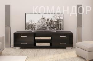 Тв-тумба КОМАНДОР черная - Мебельная фабрика «МАРТ»