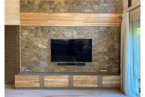 ТВ тумба с 3д деревянным фасадом - Мебельная фабрика «Массив»