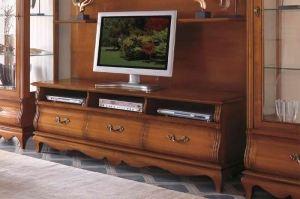 Тв-тумба с ящиками Intarsio,Ciliegio - Мебельная фабрика «Артим»