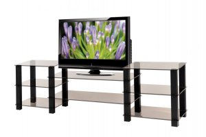 ТВ-тумба стеклянная ТВС 21 - Мебельная фабрика «Алекс-Мебель»