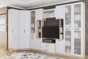 Угловая белая гостиная Прованс 1 - Мебельная фабрика «SV-мебель»