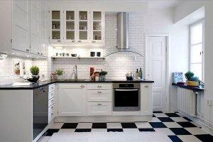 Угловая белая кухня 008 - Мебельная фабрика «МЕБЕЛИАНА»