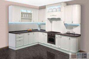 Угловая белая кухня - Мебельная фабрика «Актуаль-М»