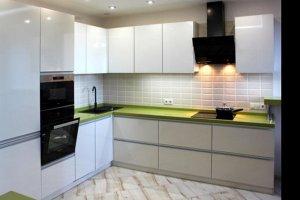 Угловая белая кухня - Мебельная фабрика «ARC мебель»