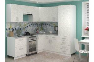 Угловая белая кухня Лира 8 - Мебельная фабрика «Баронс»